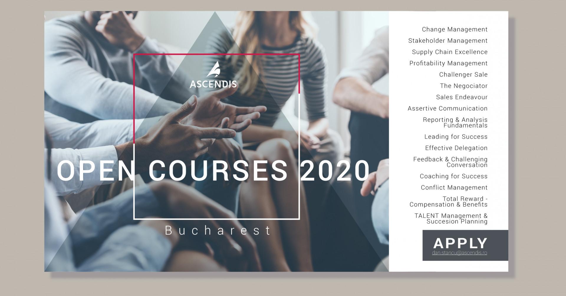 Agenda cursurilor deschise - primavara 2020